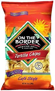 On The Border Cafe Tortilla Chips, 12 Oz