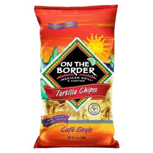 On The Border Cafe Tortilla Chips, 12 Oz