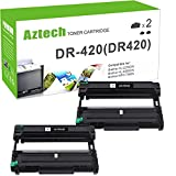 Aztech Compatible Drum Unit Replacement for Brother DR420 DR-420 (Black, 2-Packs)