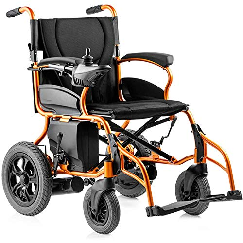 YTPB Best Rated Exclusive Deluxe Electric Wheelchair Motorized Fold Foldable Power Wheel Chair, Dual Use Longest Transport Wheelchair for Adult Disabled Elderly