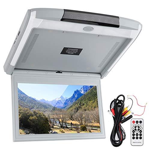 TV para automóvil con reproductor de DVD Reproductor de techo para automóvil Monitor de montaje en el techo Pantalla de visualización de 11.6in HD 1080P TV MP5 con USB TF HDMI FM Admite control remoto