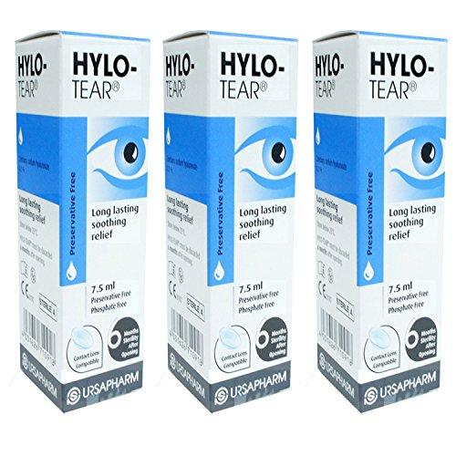 Hylo-Tear Lang Anhaltend Augentropfen x 3 Dreierpackung