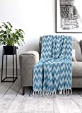 Nestedup Soft Luxury Cotton Throw Blanket for Sofa and Couch Reversible Ac Blanket