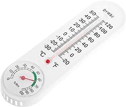 OcioDual Termometro Higrometro Analogico de Plastico Temperatura en ºC ºF Humedad Blanco