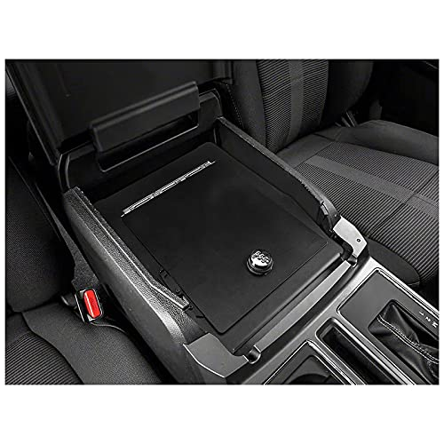 3mirrors Center Console Safe Gun Safe with Springs Hinge Compatible with 2015-2020 Ford F-150, 2017-2021 Ford Super Duty 2018-2020 Ford Expedition Raptor