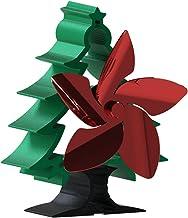 MagiDeal Ventilador de Chimenea de 5 aspas Diseño de árbol de Navidad Estufa Ventilador Quemador Silencioso Ecológico Eficiente MAX 310CFM Circula cálido para