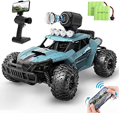 Ferngesteuertes Auto, DEERC RC-Cars 1:16 RC Rennauto mit Kamera 720P Offroad Truggy Monstertruck 2.4-GHz, Spielzeug Fahrzeug für Erwachsene und Kinder (36W)
