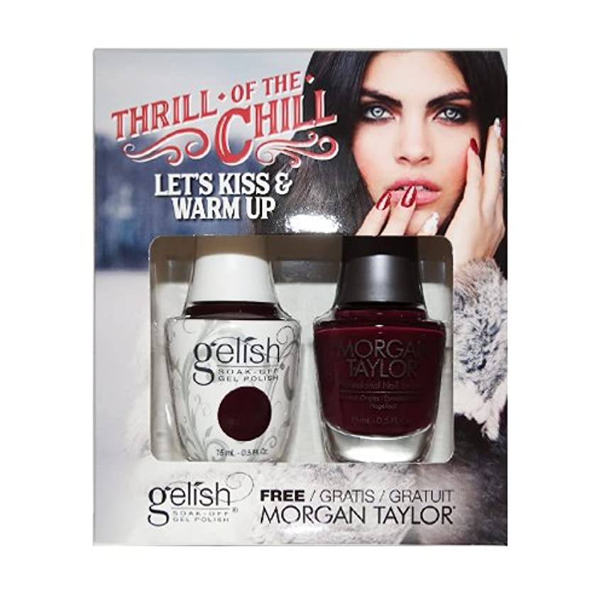 薬もっともらしい認識Harmony Gelish & Morgan Taylor - Two Of A Kind - 2017 Winter Collection - Thrill Of The Chill - Let's Kiss & Warm Up