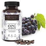Cápsulas OPC Extracto de Semilla de Uva + Vitamina C, A natural y E | Complejo Antioxidan...