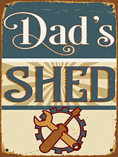 DADS SHED SIGN SHABBY CHIC RETRO METAL TIN WALL PLAQUE SIGN NOVELTY GIFT