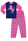 Lindo pijama largo para niña Born to Be a Unicorn Pink Star