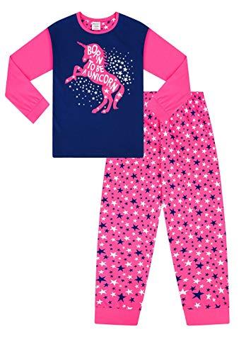 Pijama Largo con diseño de Unicornio y Estrella Rosa para niña Rosa Rosa 6-7 Años