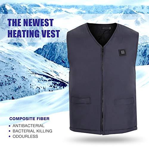 Pangding Unisex Vest USB-verwarming elektrische buitenjas infrarood temperatuurregeling winter warme mantel winterkleding outfit