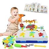 LEADSTAR Tablero de Mosaico Juguete, 237 PCS Bloques Construccion Rompecabezas, Bricolaje Puzzle...