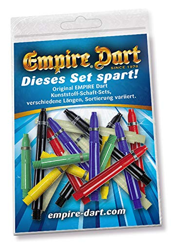 Test Set 1 Empire Plastic Shafts with Spring Ring Clasp Set of 6in 3Lengths Assorted Colours
