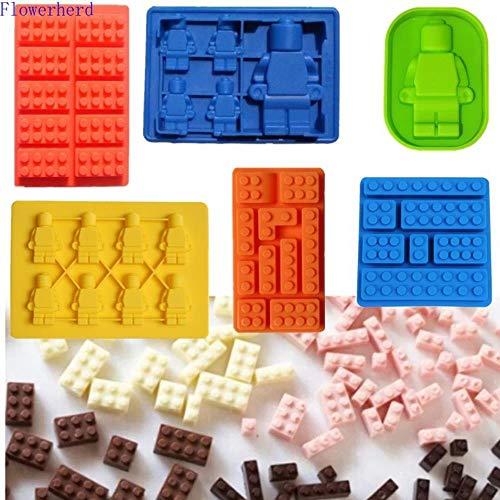 Xmwm Lego Robot Square Block DIY Silicona Molde Chocolate