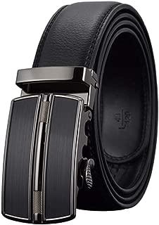 Men Belt Luxury Automatic Buckle Genune Leather Strap Black Brown