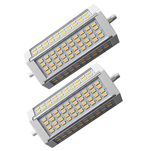 ZQYR Lamp# R7s LED 135mm 40W Linear R7s LED Leuchtmittel, 400W J135 J Typ LED Birne Halogenlampe Flutlicht Ersatz, Warmweiß 3000K Birne, (2er-Pack, 110v~240v),Whitelight