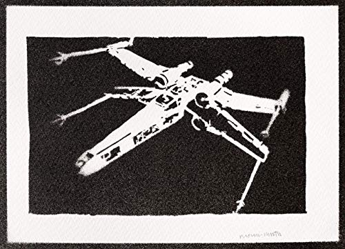 X-Wing Starfighter Poster STAR WARS Plakat Handmade Graffiti Street Art - Artwork