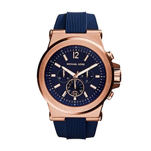 Michael Kors Herren Chronograph Quarz Uhr mit Silikon Armband MK8295