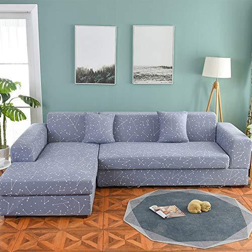 Funda de sofá nórdica, Conjunto de algodón, Funda de sofá, Funda de sofá elástica para Sala de Estar, sofá Chaise Longue en Forma de L, sofá A1 de 2 plazas