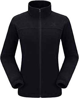 Women Full Zip Fleece Jackets with Pockets Soft Polar Fleece Coat Jacket Sweater for Spring Outdoor