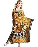Bayside Barcelona españa Traje de Fiesta de Las Mujeres Vestido de Animal impresión Digital Kimono Kaftan Traje de baño Largo