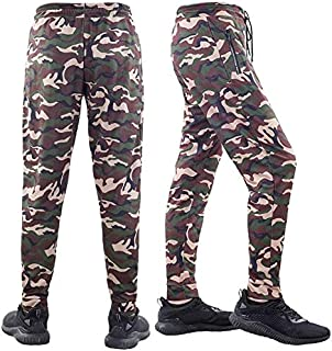 Men's Compression Pants, Men' Sports Tights Pants Cool Dry Camouflage Pants Yoga Pants (Color : Green, Size : XXXL)