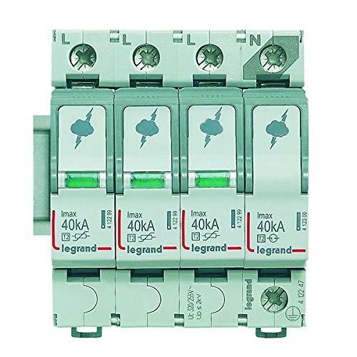 Legrand by Grenda-hammer - Distribuidor de corriente diferencial, interruptor diferencial, transformador y carril de peine (protección contra sobretensión tipo 2 3+N)
