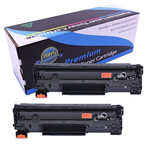 Cartucho de tóner CB435A 435A compatible con impresoras HP 35a Laserjet P1005 P1006, 1500 páginas, 2 unidades, color negro