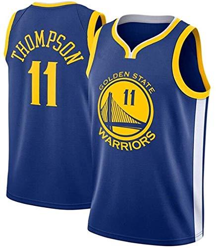 Jersey Men's, Klay Thompson # 11 Golden State Warriors New Tirable Sin Mangas Hombre Baloncesto Jersey Bordado Malla Bordado Swing Man Sports T-Shirt (Size : XX-Large)
