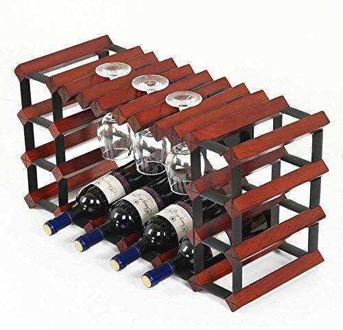 HJXSXHZ366 Estantería de Vino 10 Botellas de Vino Rack de Cocina Botella de Vidrio mostrador Estante 6 estantes Separados for Bar/Cocina, Blanco Estante de Vino pequeño (Color : Winered)