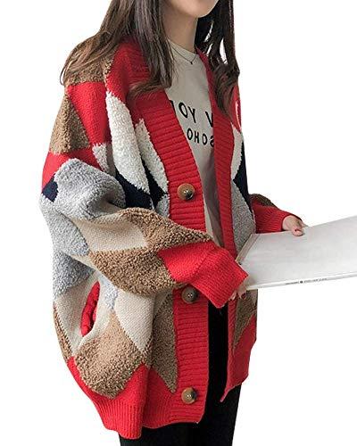 [セカンドルーツ]アーガイル カーディガン ボア モコモコ あったか あったかい おしゃれ かわいい おおきめ もふもふ もこもこ インナー ガウン ポンチョ エスニック アウター ジャケット セーター ショートコート 冬用 大きい サイズ ビジネス バイ