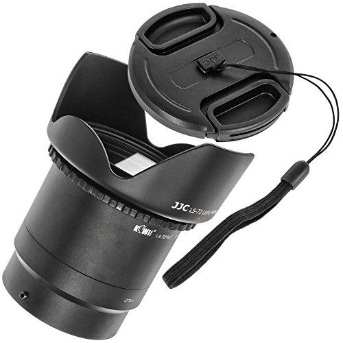 Impulsfoto Zubehörset Einsteigerset kompatibel mit Nikon Coolpix P600, P610, P610S B700 mit UV-Filter, Polfilter, Gegenlichtblende, Objektivdeckel und Adapter