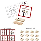 12 Malbücher für Kinder Plus 12 Packungen Buntstifte Hochzeit Malset