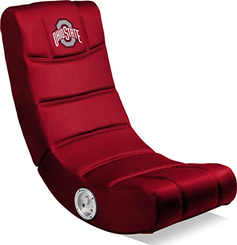Imperial Officially Licensed NCAA Furniture: Ergonomic Video Rocker Gaming Chair with Bluetooth, Ohio State University Buckeyes