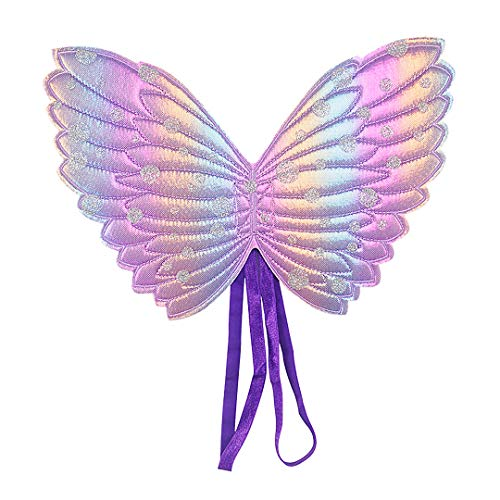 Multifit Girls Fairy Butterfly Wings Toddler Angel Wing for Parties, Birthday Favors, Halloween Costumes(Purple)