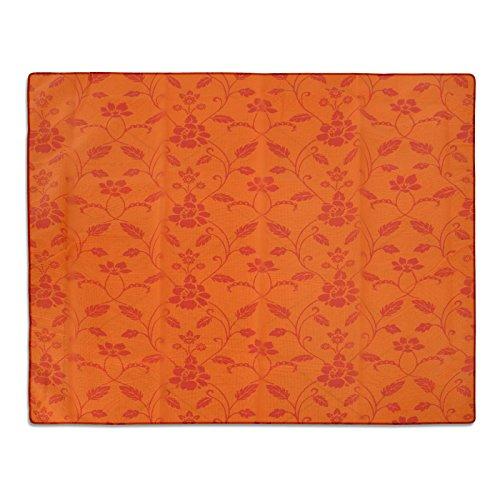 casa pura® Gartentischdecke Monika   orange mit Trend Blumenmuster   Weichschaum Tischdecke für Garten und Balkon   rechteckig 130 cm x 160 cm