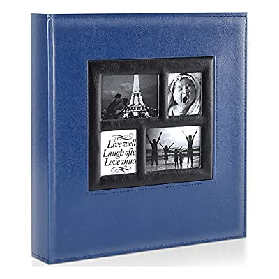 Ywlake Photo Album 4x6 1000 Pockets Photos, Extra Large Capacity Family Wedding Picture Albums Holds 1000 Horizontal and Vertical Photos Blue