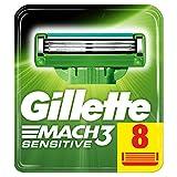 Gillette Mach 3 sensitive Lames de Rasoir - 8 recharges
