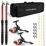 mouhike Telescopic Fishing Pole Combo Set, All-in-one 1.8m/5.9ft Full Kit 2PCS Collapsible Rods +...