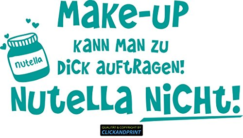 CLICKANDPRINT Aufkleber » Nutella, 120x60,3cm, Türkis • Dekoaufkleber/Autoaufkleber/Sticker/Decal/Vinyl