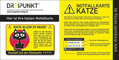 Notfallkarte 'Katze': PVC-Karte im Scheckkartenformat für die Brieftasche