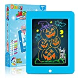 Obuby Kids Light Up Drawing Board Magic Pad Draw Tracing with 9 Light Effects LED Sketch Tablet Glow in The Dark Art Doodle Color Set Educational Toys Learning Gifts for Writer, Boys and Girls (Bule)
