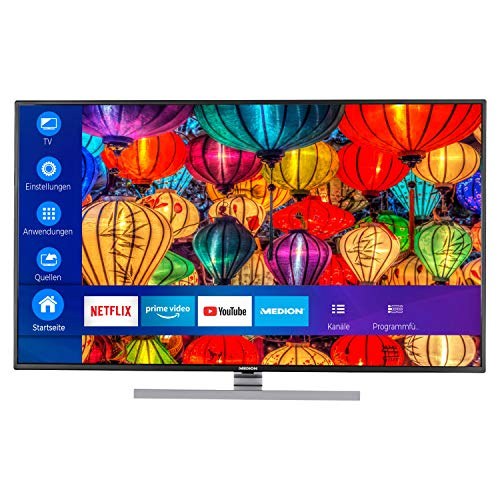 MEDION S16502 163,8 cm (65 Zoll) UHD Fernseher (Smart-TV, 4K Ultra HD, Dolby Vision HDR, Micro Dimming, MEMC, Netflix, Prime Video, WLAN, DTS Sound, PVR, Bluetooth)