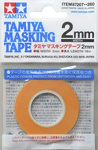 TAMIYA 87207 Masking Tape - Cinta adhesiva (2 mm/18 m)