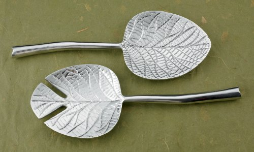 "12"" Dogwood Leaf Serving Set by KINDWER"