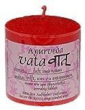 Heaven Scent Ayurveda VATA Natur Kerze 5 x 5 cm aus Pflanzenwachs, beduftet mit ätherischem Ölen, ungebleichter Docht