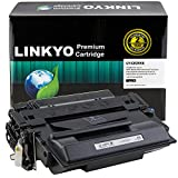 LINKYO Compatible Toner Cartridge Replacement for HP 55X CE255X (Black, High Yield)