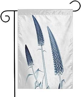 Mannwarehouse Flower Garden Flag Gooseneck Loosestrife Flower X-Rays Image Exotic Plants Blooms Artful Home Image Premium Material W12 x L18 Teal White